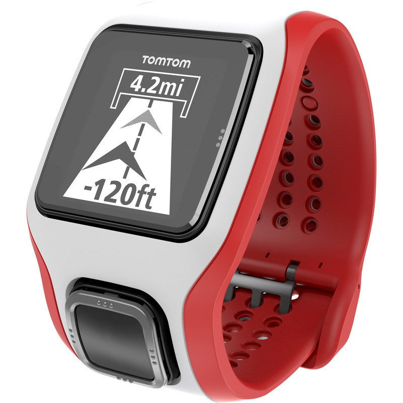 TomTom Runner Cardio GPS Watch White/Red | 1RA000101