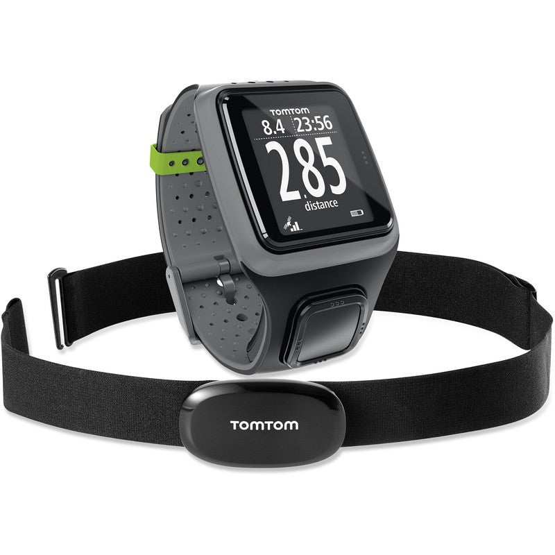 TomTom Runner GPS Watch Grey + HRM Heart Rate Monitor | 1RR000103