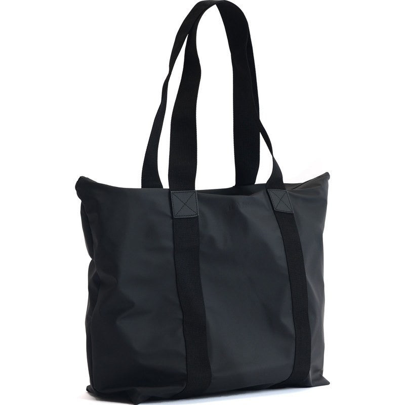 RAINS Waterproof Tote Bag Rush Black - Sportique 0374b9acb14ca