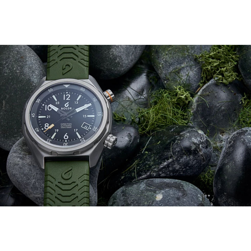 BOLDR Expedition Rushmore Swiss Automatic Watch | Matt Black Dial