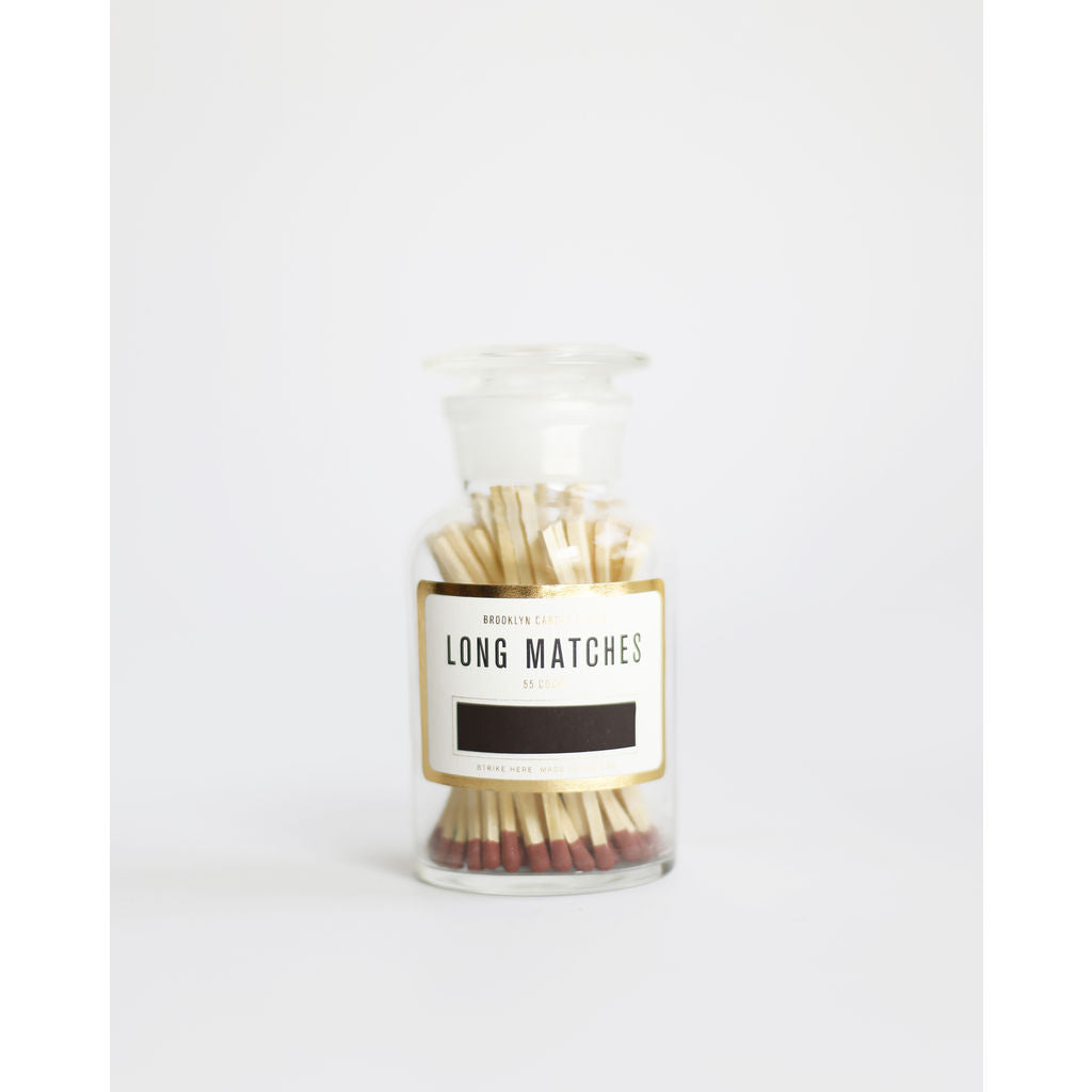 Brooklyn Candle Studio Apothecary Match Bottle | Rust / MT006