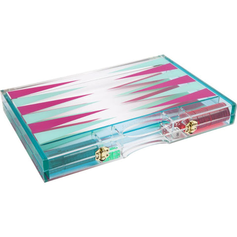 Sunnylife Lucite Backgammon Super Fly