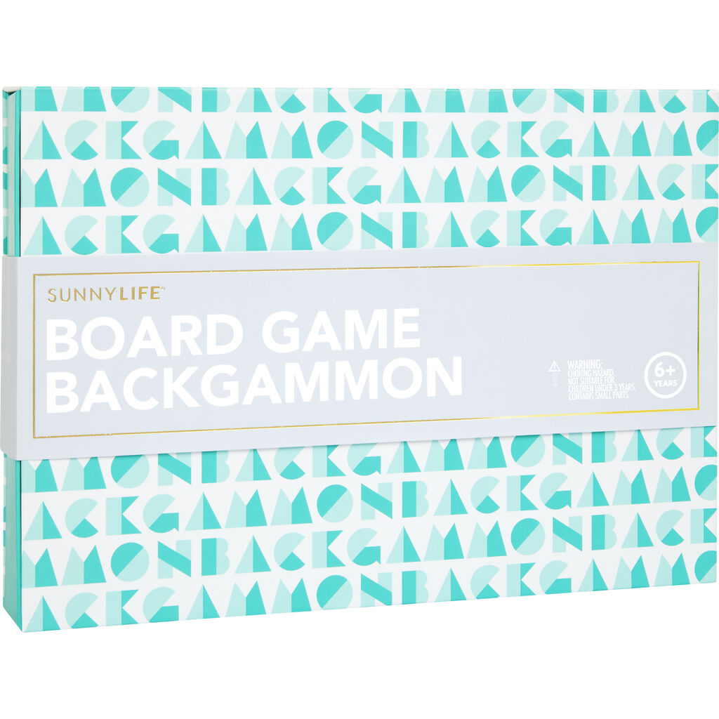 Sunnylife Travel Board Game Set | Backgammon