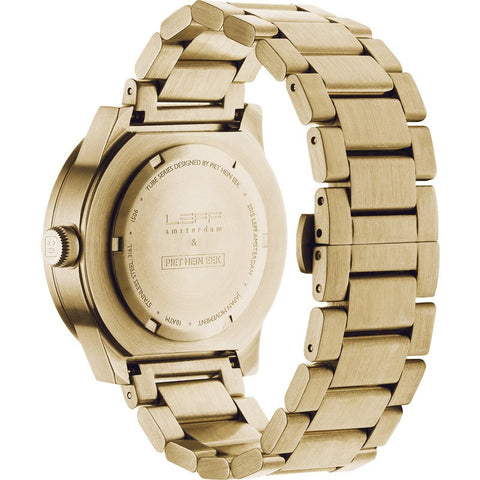 LEFF amsterdam S42 Tube Watch | Brass Plated Stainless Steel
