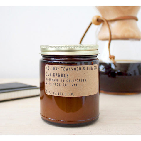 P.F. Candle Co. Standard Candle| Teakwood & Tobacco 7.2 oz SC4
