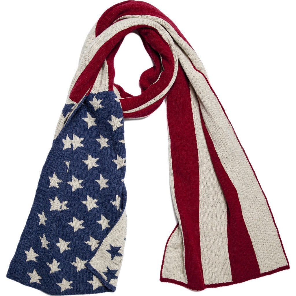 in2green American Flag Scarf | Slate/Pomegranate SCAF1