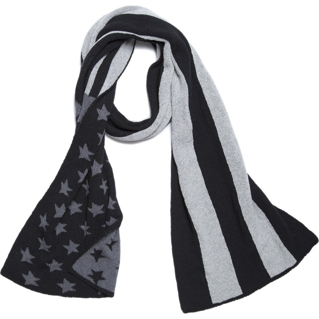 in2green American Flag Scarf | Black/Aluminum SCAF2