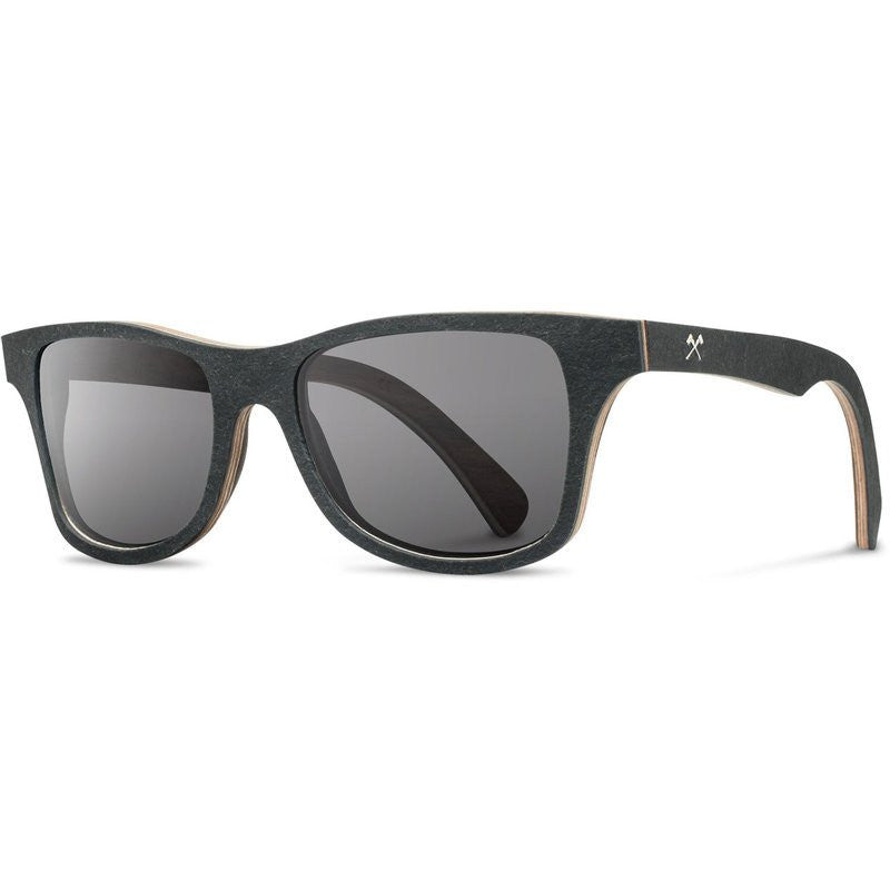 Shwood Canby Stone Sunglasses | Black Slate / Grey Polarized