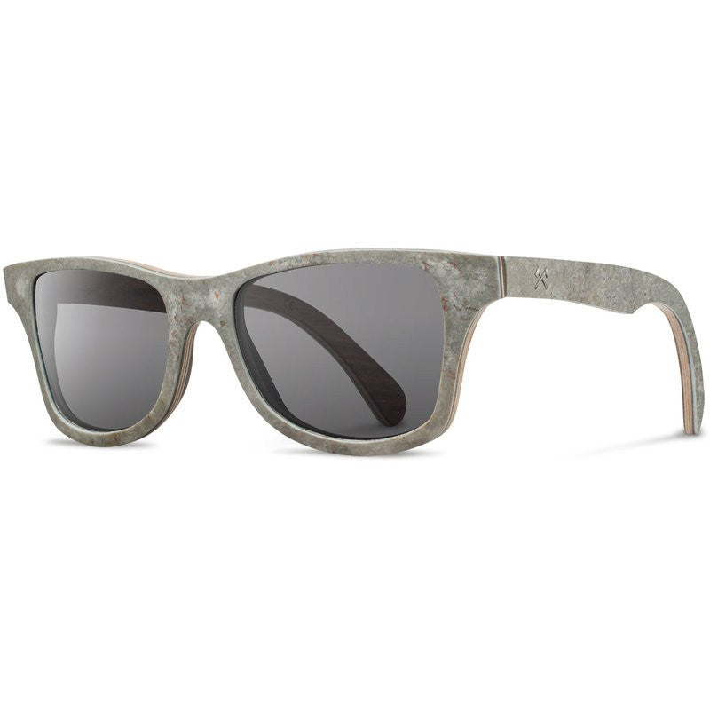 Shwood Canby Stone Sunglasses | White Slate / Grey Polarized