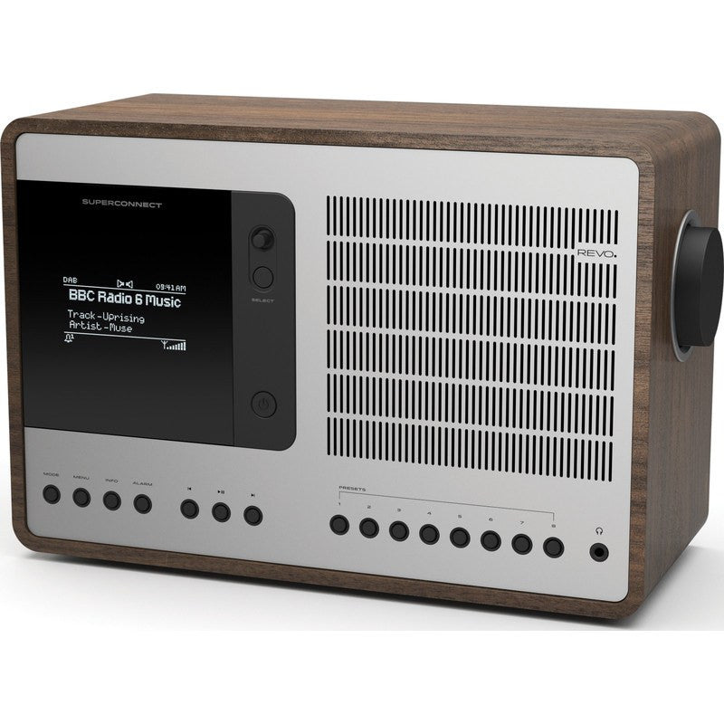 REVO SuperConnect Bluetooth Digital Radio | Walnut/Silver