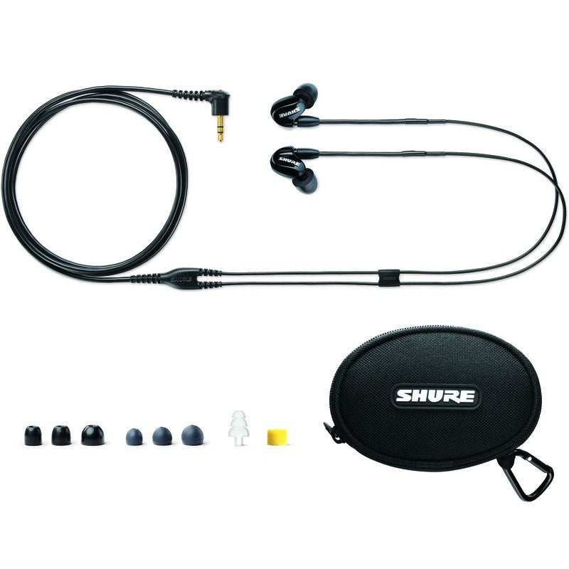 Shure SE315 Sound Isolating Earphones | Translucent Black SE315-K