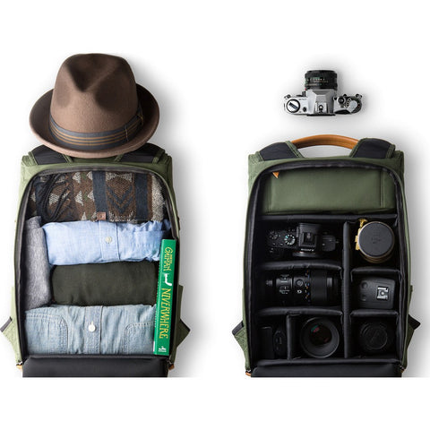 Vinta S-Series Travel Camera Backpack| Charcoal/Natural-SC-N01