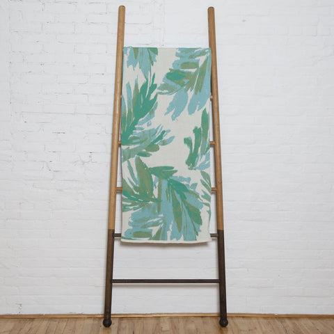 in2green Stacy Garcia Poly Brushstroke Throw | Fern/Mint Emerald SG-POLY-TC3