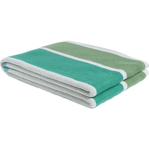 in2green Stacy Garcia Poly Cabana Stripes Throw | - Fern/Mint/Emerald SG-POLY-BS3