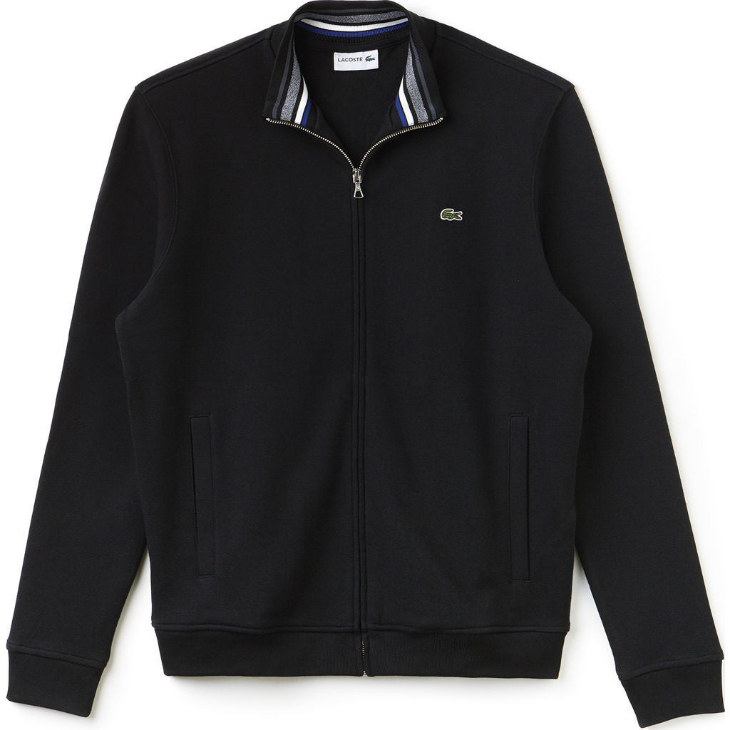 Lacoste Collared Men S Fleece Sweatshirt In Black Sportique