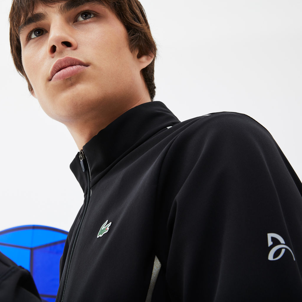 Lacoste Sport x Novak Djokovic Midlayer Men's Zip Sweatshirt | Black SH7401