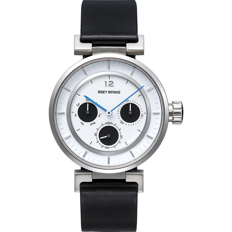 Issey Miyake W-Mini White Watch | Black Leather Silaab02 Pl/3#Iwh2/Bk