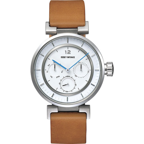 Issey Miyake W-Mini White Watch | Natural Leather Silaab03 Pl/3#Iwh3/Ta
