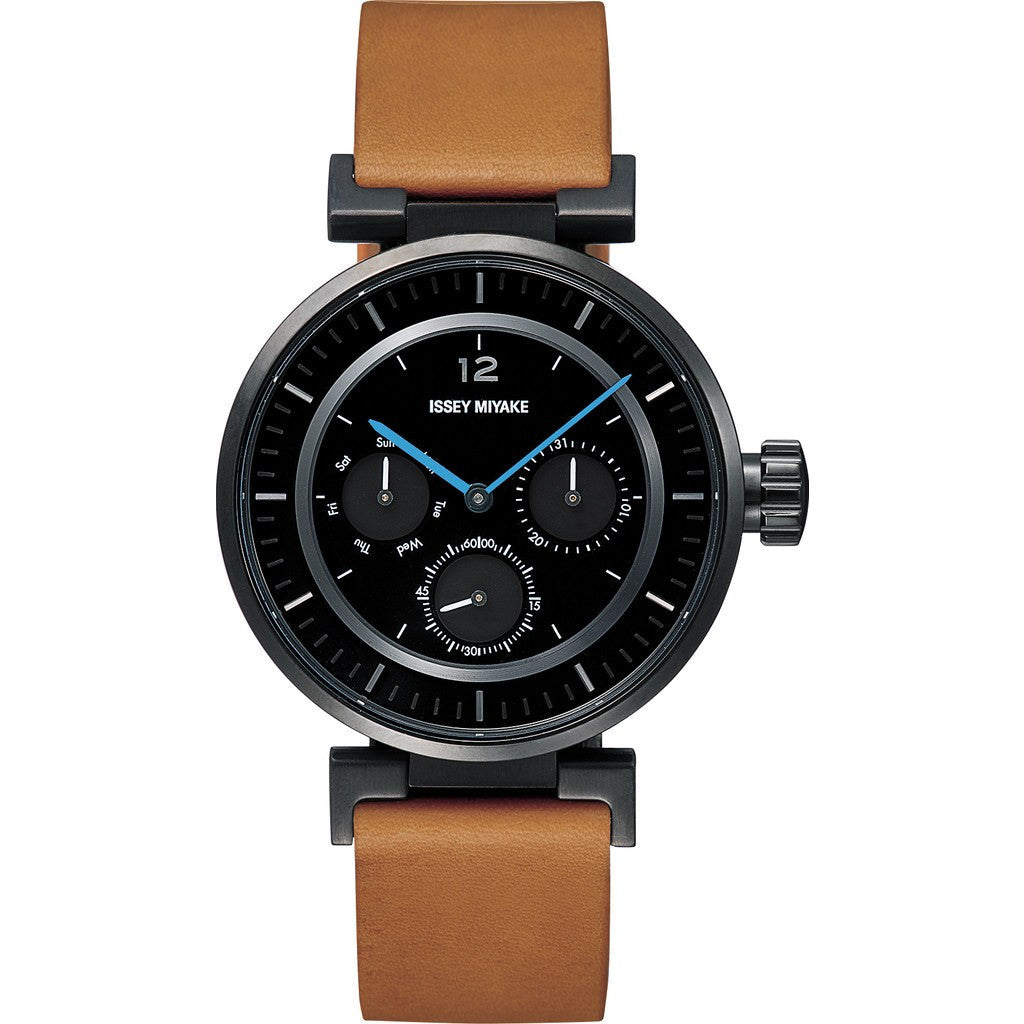 Issey Miyake W-Mini Black Watch | Natural Leather Silaab04 Ipbkl/3#Ibk4/Ta