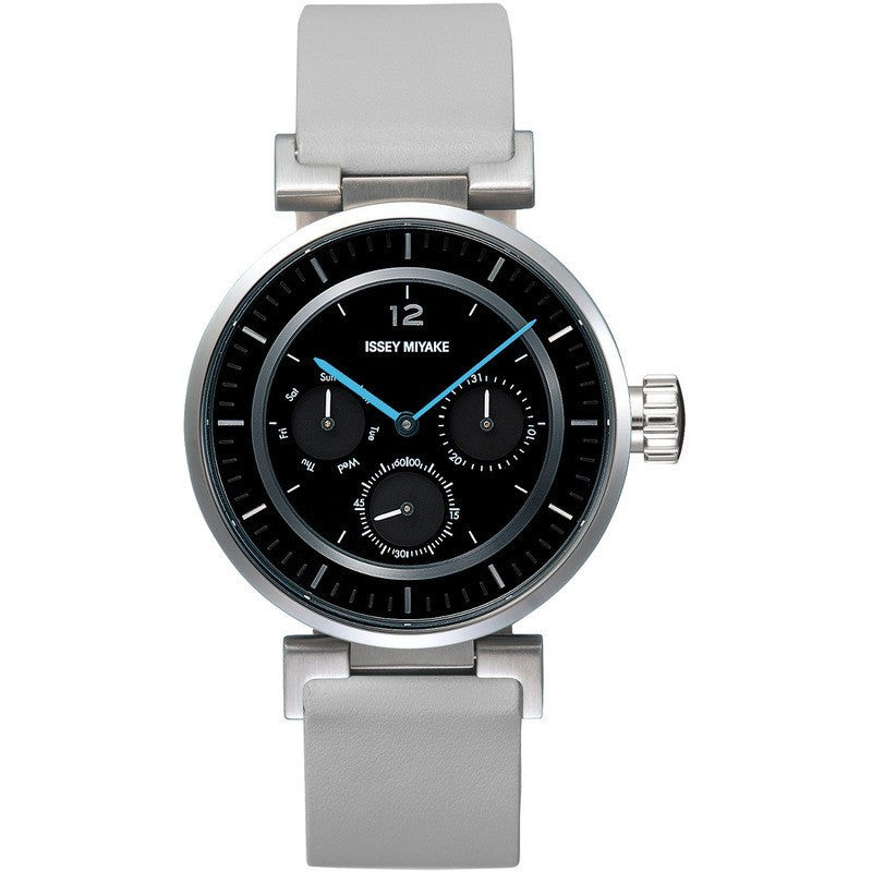 Issey Miyake W Watch | Black/Grey Leather SILAAB05