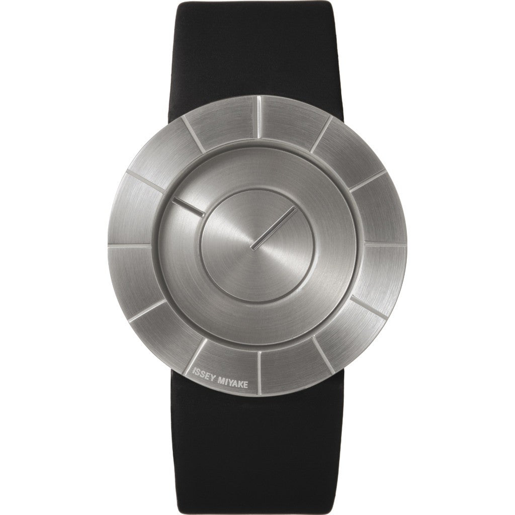 Issey Miyake TO Silver Watch | Black Leather Silan003 Pm/Sl/Bk