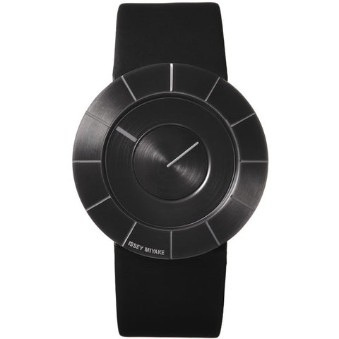 Issey Miyake To Black Steel Watch | Black Leather SILAN004