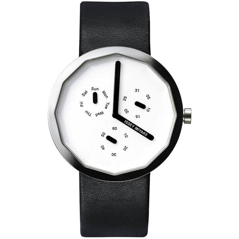 Issey Miyake Twelve 365 White Watch | Silver/Leather SILAP007