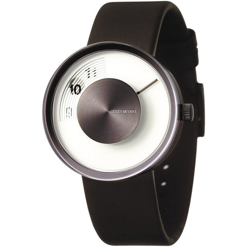 Issey Miyake Vue White Watch | Brown Leather SILAV005