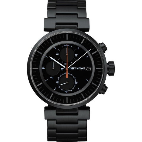 Issey Miyake W Black Chronograph Watch | Steel SILAY002