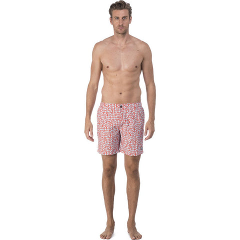 Tom & Teddy Skin Swim Trunk | Hot Coral Size L