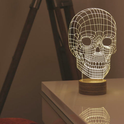 Studio Cheha Skull LED Table Lamp | Birch/Acrylic