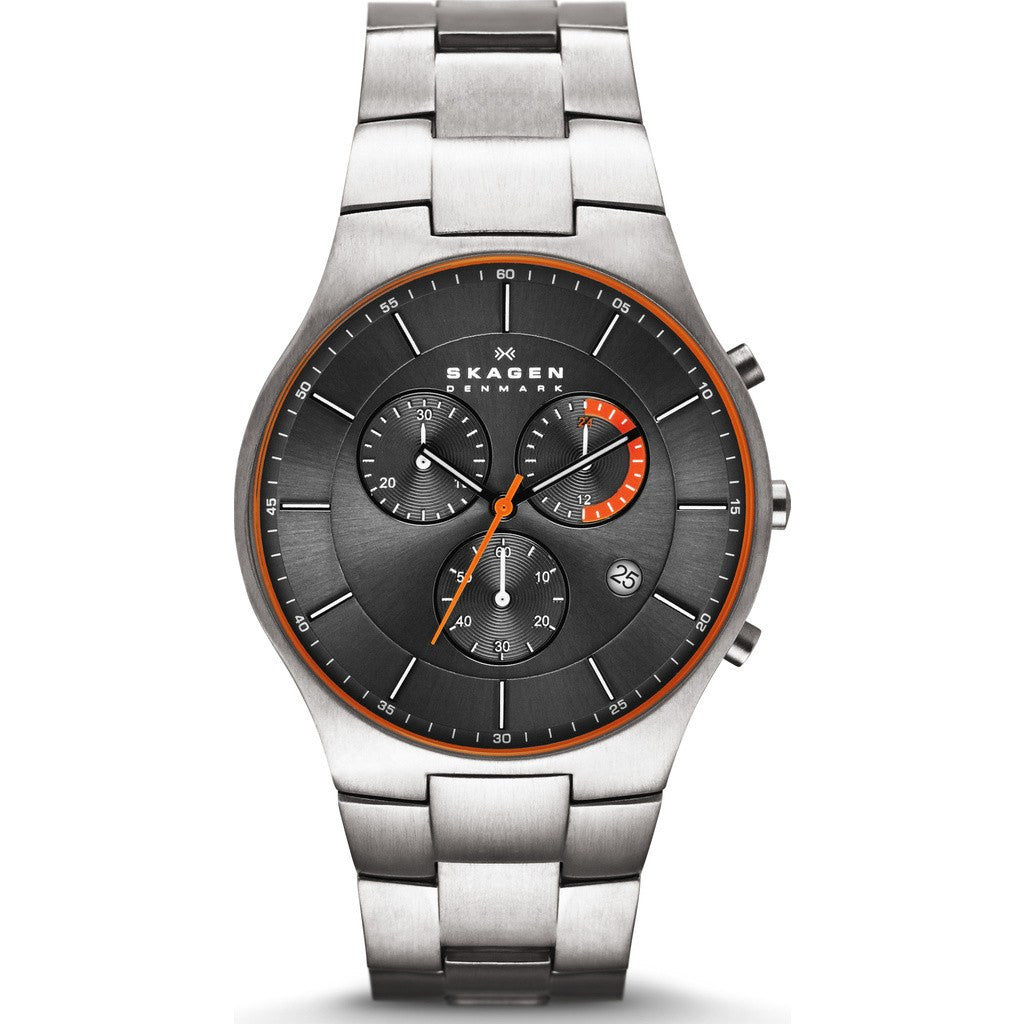 Skagen Balder Grey Chronograph Watch | Titanium SKW6076