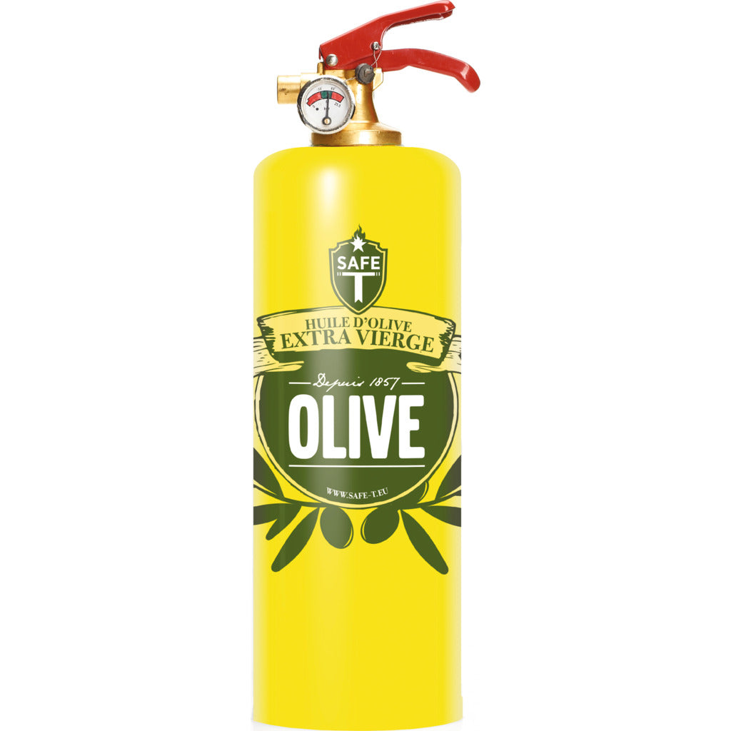 Safe-T Designer Fire Extinguisher | Foods -Olive SL1524
