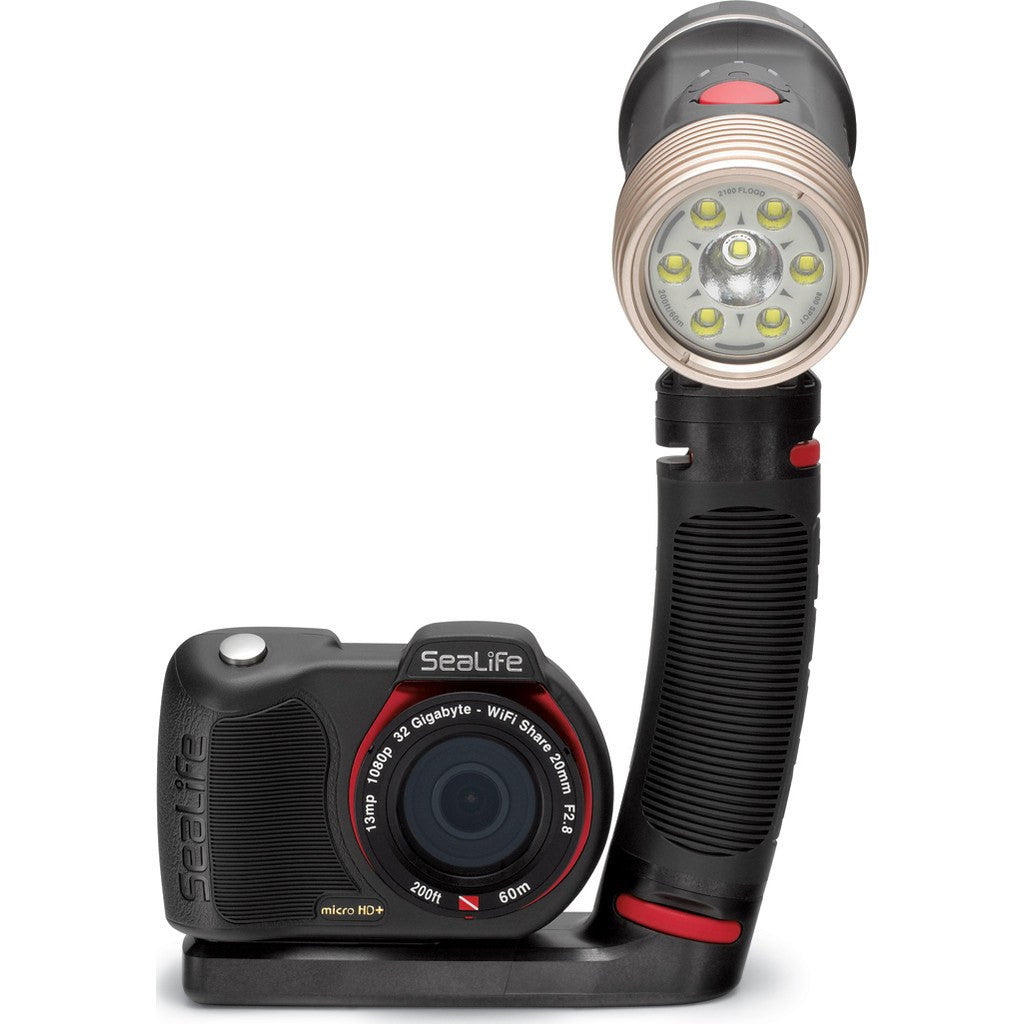 SeaLife Sea Dragon 2100SF Dual Beam LED Underwater Photo/Video/Dive Light Kit | Black SL670