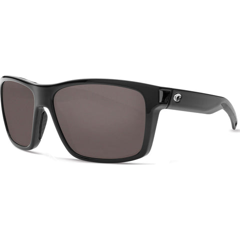 Costa Slack Tide Shiny Black Sunglasses | Gray 580P