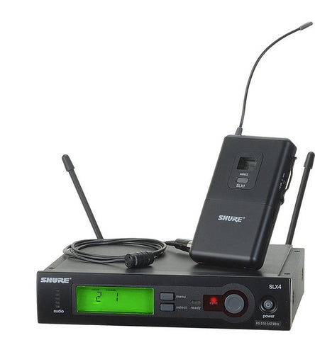 Shure SLX14/85 Lavalier Wireless System with SLX1 and WL185 Microphone | Black