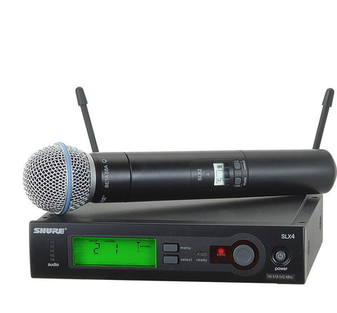 Shure SLX24/BETA58 Wireless Handheld Transmitter with BETA58 Microphone | Black