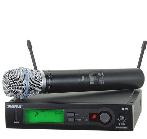 Shure SLX24/BETA87A Handheld Wireless System with BETA87A Microphone