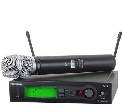 Shure SLX24/SM86 Wireless Handheld Transmitter with SM86 Microphone | Black