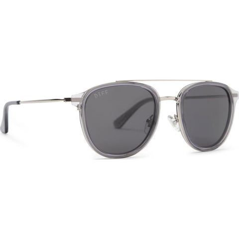DIFF Eyewear Camden Sunglasses | Smoke Crystal + Grey Polarized