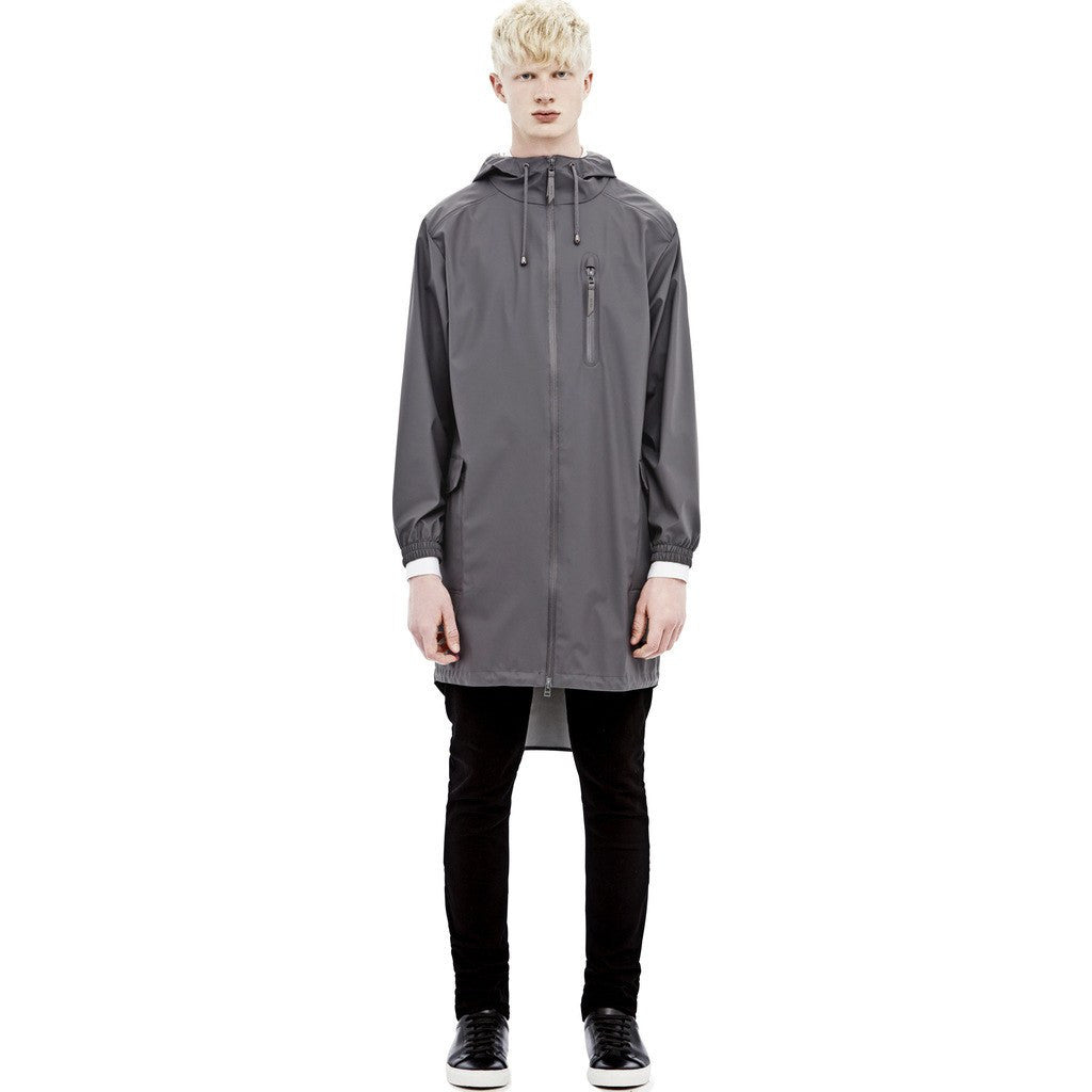 RAINS Waterproof Parka Coat | Smoke 1233 XS/S