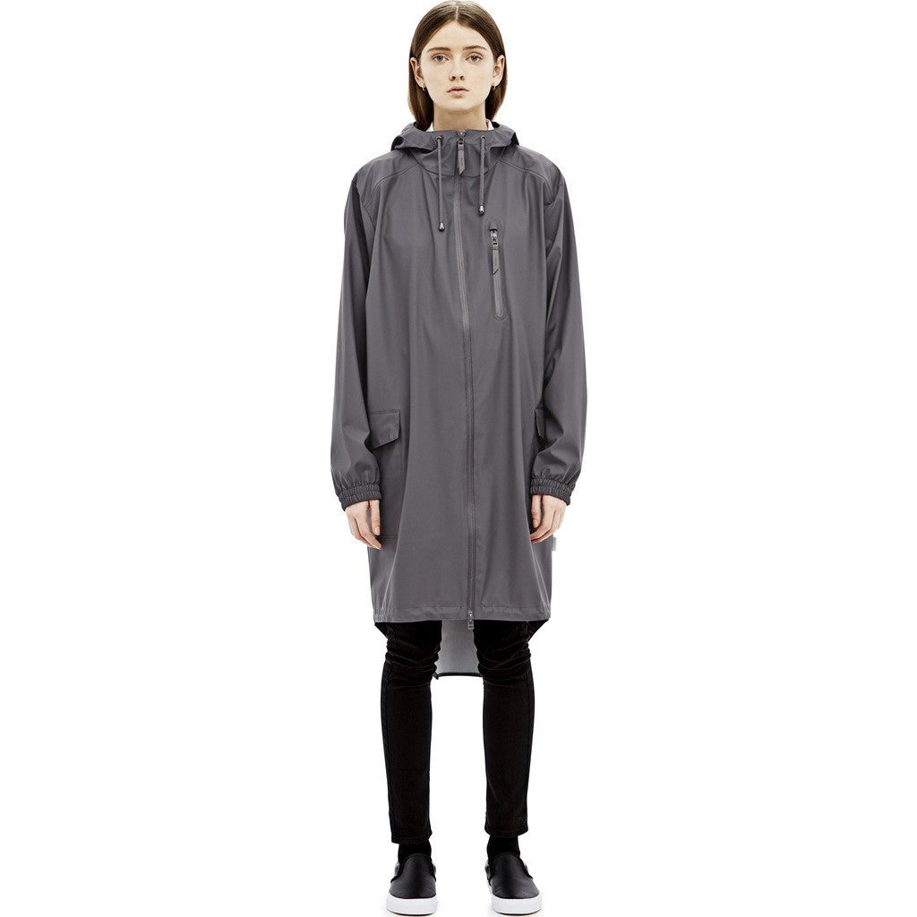 RAINS Waterproof Parka Coat | Smoke 1233 XXS/XS