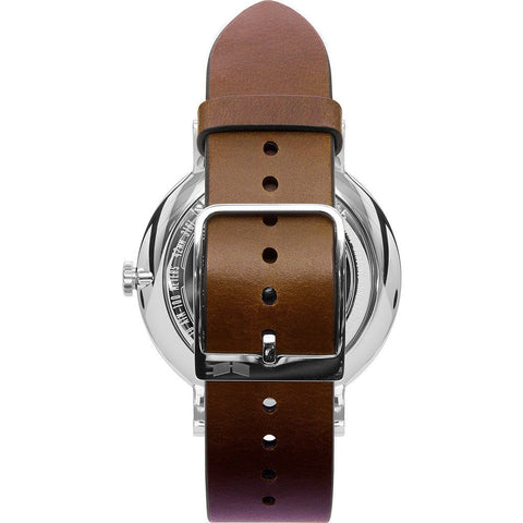 Vestal The Sophisticate Watch | Brown/Silver/White/Italian Leather/Swiss Jewel Movement SPH3L02