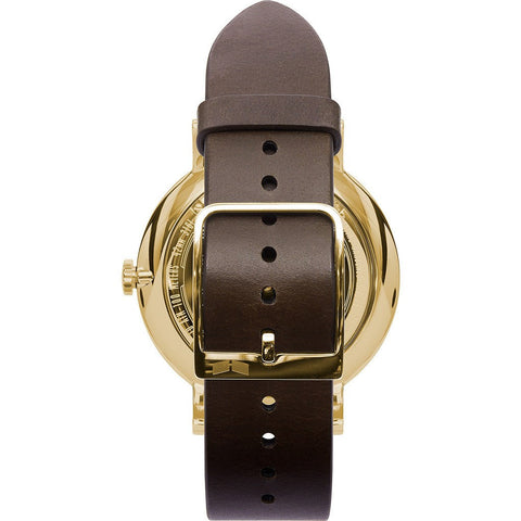 Vestal The Sophisticate Watch | Brown/Gold/White/Italian Leather/Swiss Jewel Movement SPH3L03