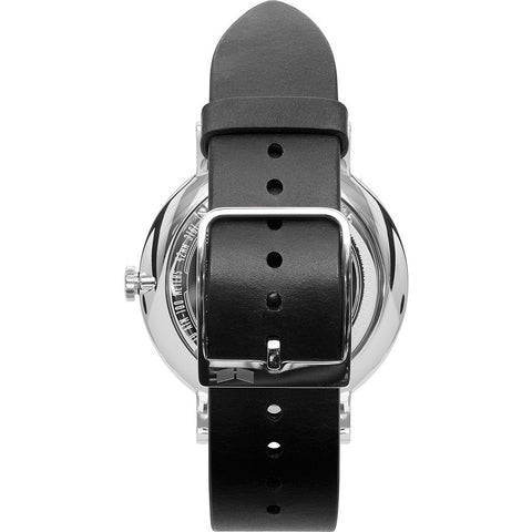 Vestal The Sophisticate Watch | Black/Silver/Black/Italian Leather/Swiss Jewel Movement SPH3L04
