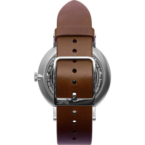 Vestal The Sophisticate Watch | Cordovan/Silver/Metallic White/Swiss Jewel/Movement SPH3L08