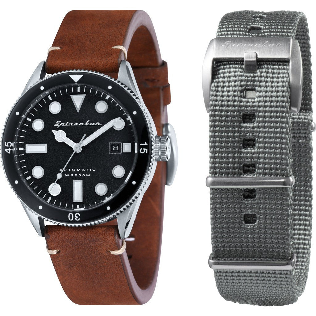 Spinnaker Cahill Vintage Diver SP-5033-01 Watch | Black