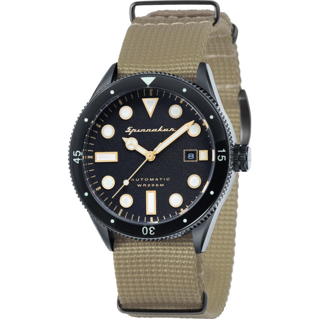 Spinnaker Cahill Vintage Diver SP-5033-02 Watch | Black