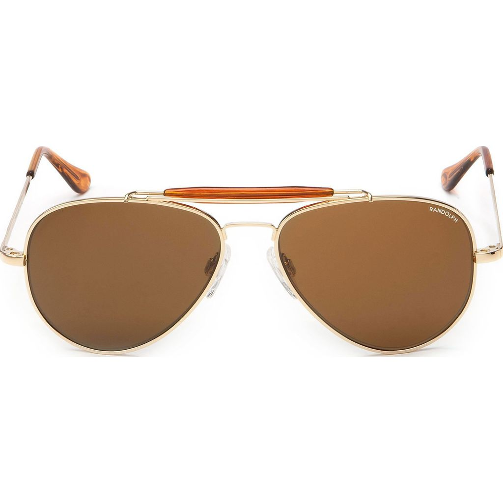 83d4e32fd9f8 ... Randolph Engineering Sportsman Gold 23K Skull Sunglasses | Glass Tan  Polarized AR Sp003 57mm ...