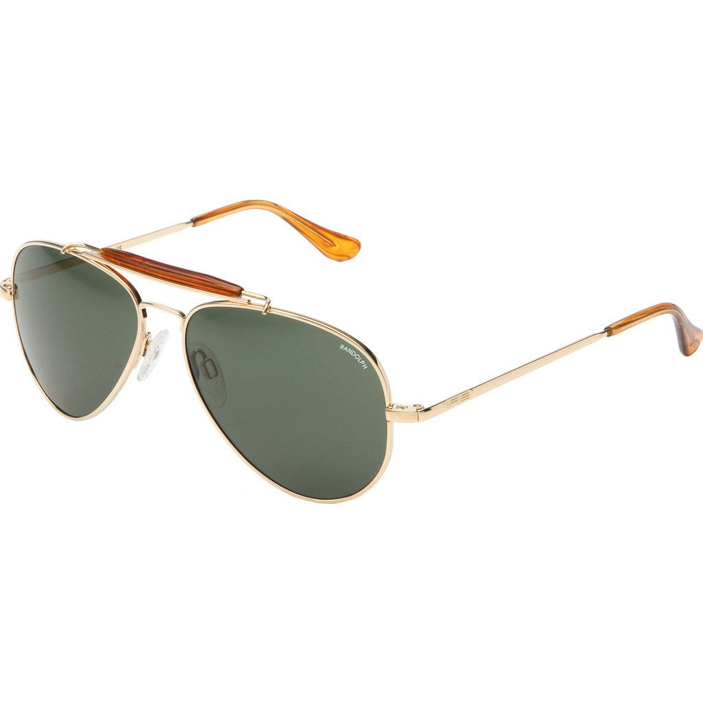 Randolph Engineering Sportsman 23K Gold Plated Sunglasses | AGX Polarized PC Skull 61MM SP11433-PC